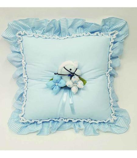 Bebek Takı Yastığı - Mavi