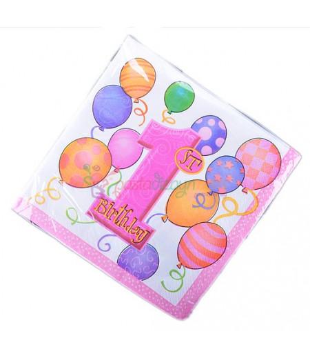 1 Yaş Doğum Günü Peçeteleri