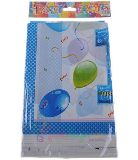 1 Yaş Mavi Renk Balonlu Masa Örtüsü