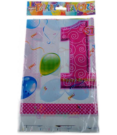 1 Yaş Pembe Renk Balonlu Masa Örtüsü
