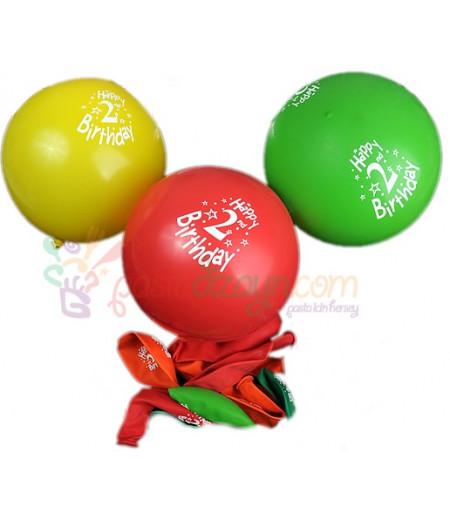2 Yaş Renkli Balon Seti,12 Adet