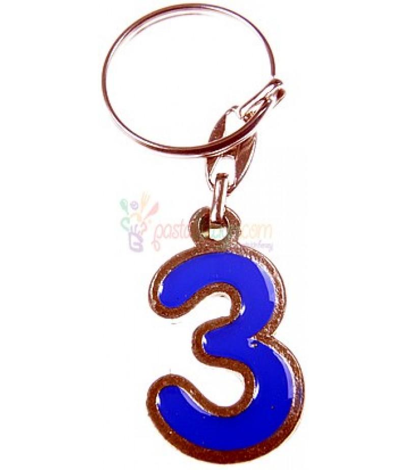 3 Yaş Mavi Renk Hediye Anahtarlık