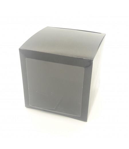 6x6x6 Cupcake ve Makaron Sunum Kutusu Siyah Renk