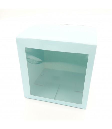6x6x6 Cupcake ve Makaron Sunum Kutusu Açık Mavi Renk