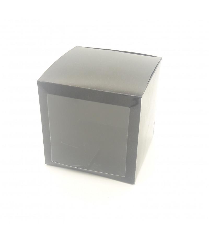 8x8x8 Cupcake ve Makaron Sunum Kutusu Siyah Renk