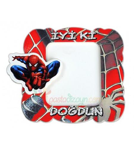Örümcek Adam Temalı Magnetli Fotoğraf Çerçevesi,Adet