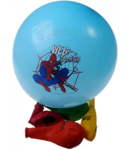 Örümcek Adam,Spiderman Renkli Balon Seti,12 Adet