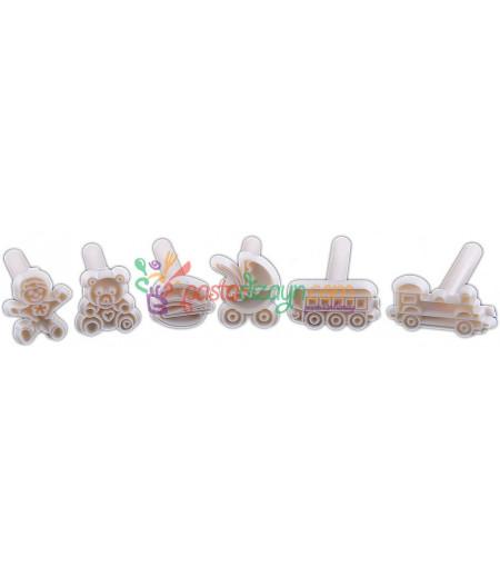 Şeker Hamuru Baskı Seti,Şirin Figürler