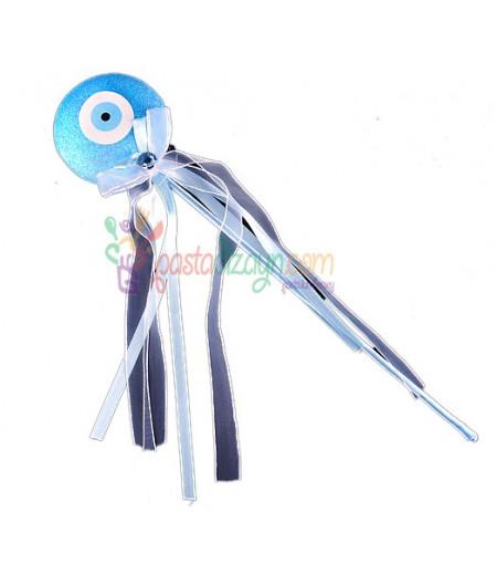 Açık Mavi Nazar Boncuklu Çubuklar,6 adet