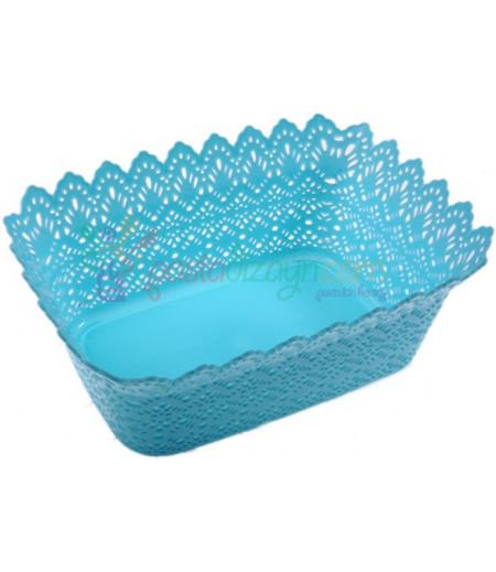 Açık Mavi Renk Plastik Sunum Sepeti
