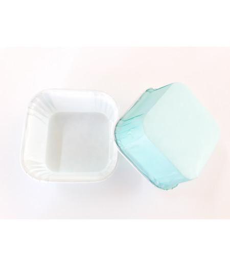 Açık Mavi Renk Kare Kek Kapsülü