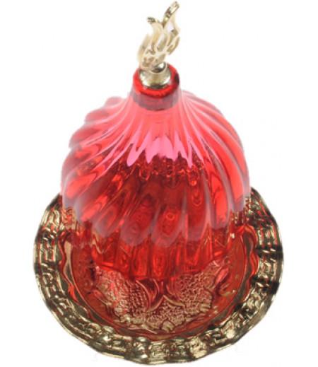 Altın Prinç Kımızı Renk Kubbeli Akrilik Lokumluk