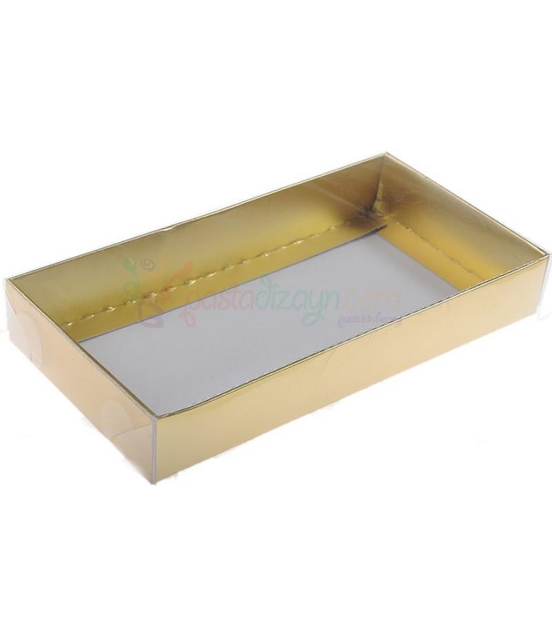 Altın Rengi Asetat Kutular,10x20x3cm,5 Adet