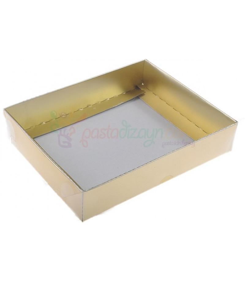 Altın Rengi Asetat Kutular,12x15x3cm,5 Adet