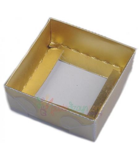Altın Rengi Asetat Kutular,8x8x3cm,5 Adet