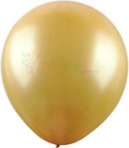 Altın Rengi Metalik Balonlar,12 Adet