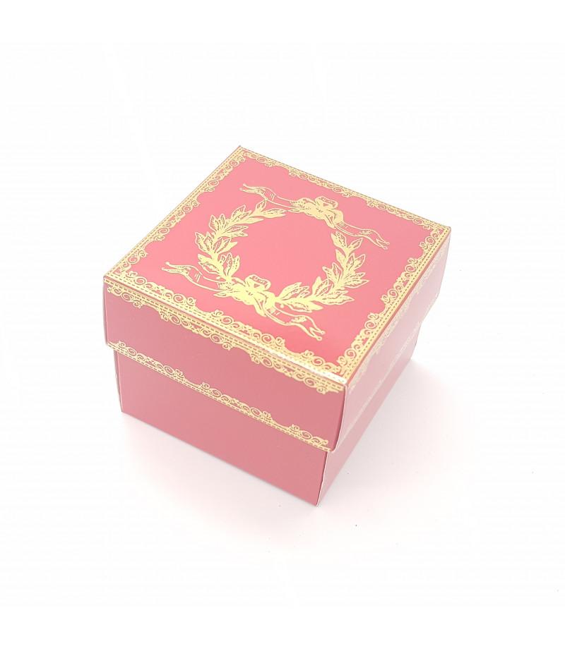 Altın Yaldızlı Süsleme Kutusu Kırmızı