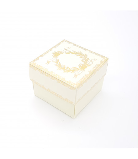 Altın Yaldızlı Süsleme Kutusu Krem