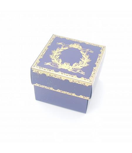 Altın Yaldızlı Süsleme Kutusu Lacivert