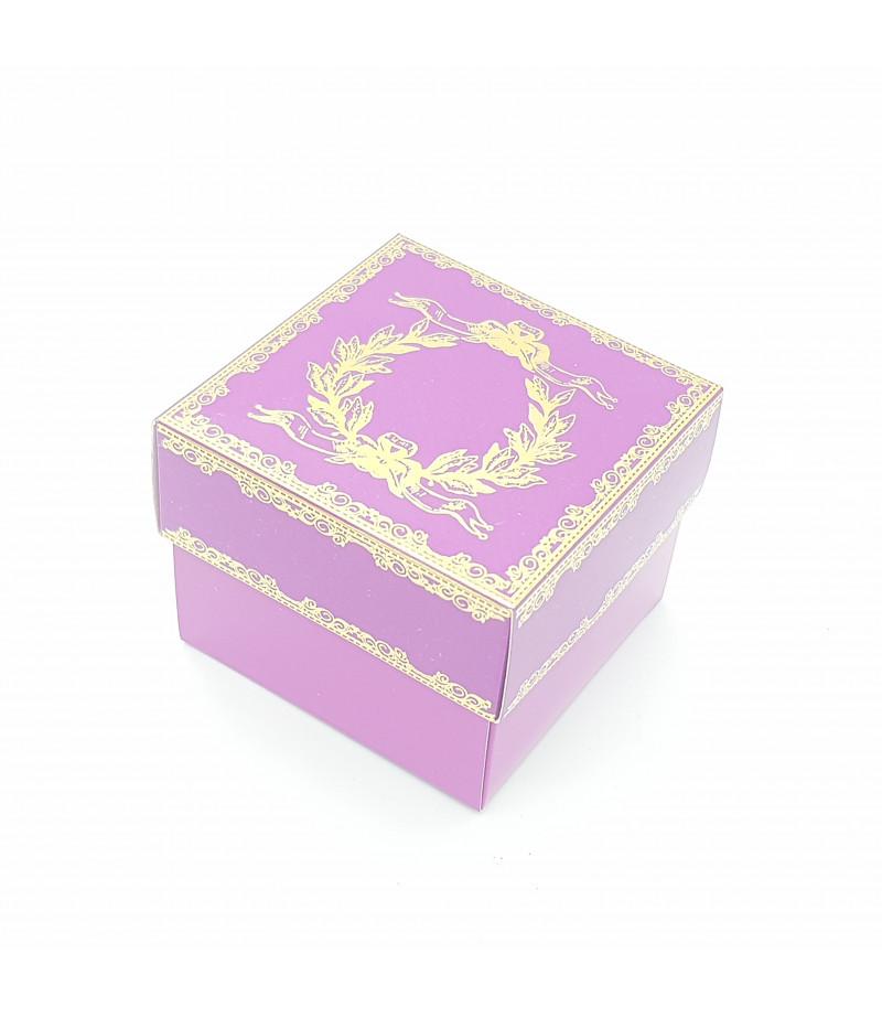 Altın Yaldızlı Süsleme Kutusu Lila