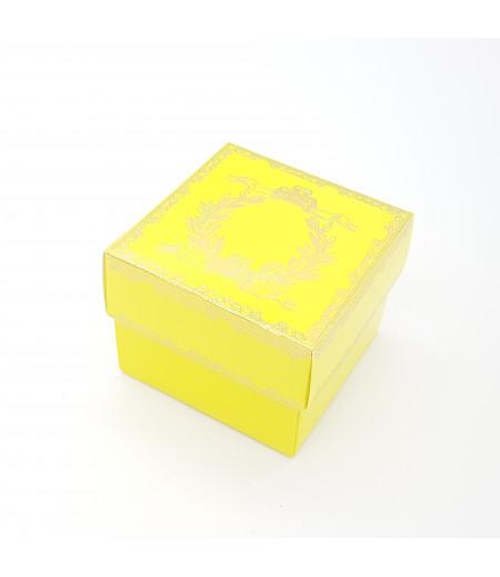 Altın Yaldızlı Süsleme Kutusu Sarı