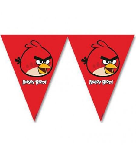 Angry Birds Görselli Kağıt Flamalar