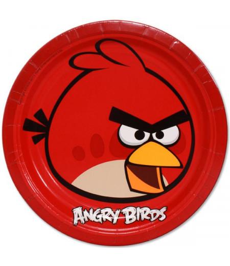 Angry Birds Görselli Kağıt Tabaklar,8 Adet