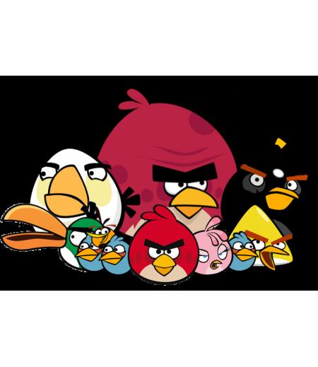 Angry Birds Gofret Kağıdı İle Baskı