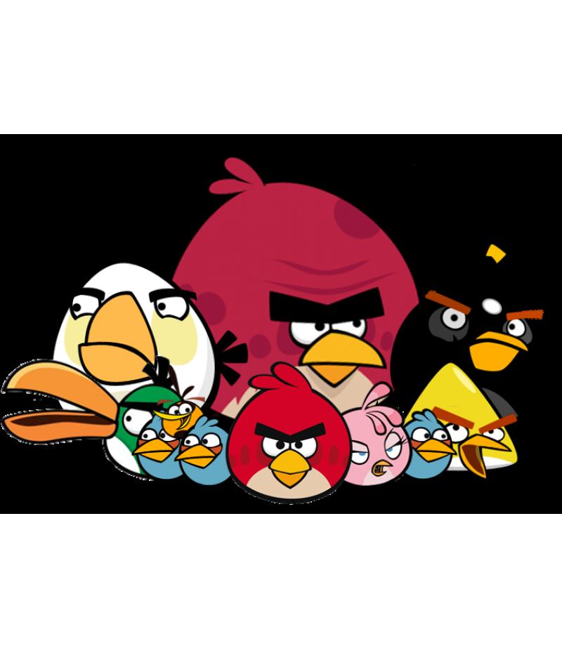 Image Sawamura Angry Png: Angry Birds Şeker Hamuru Kağıdı İle Baskı