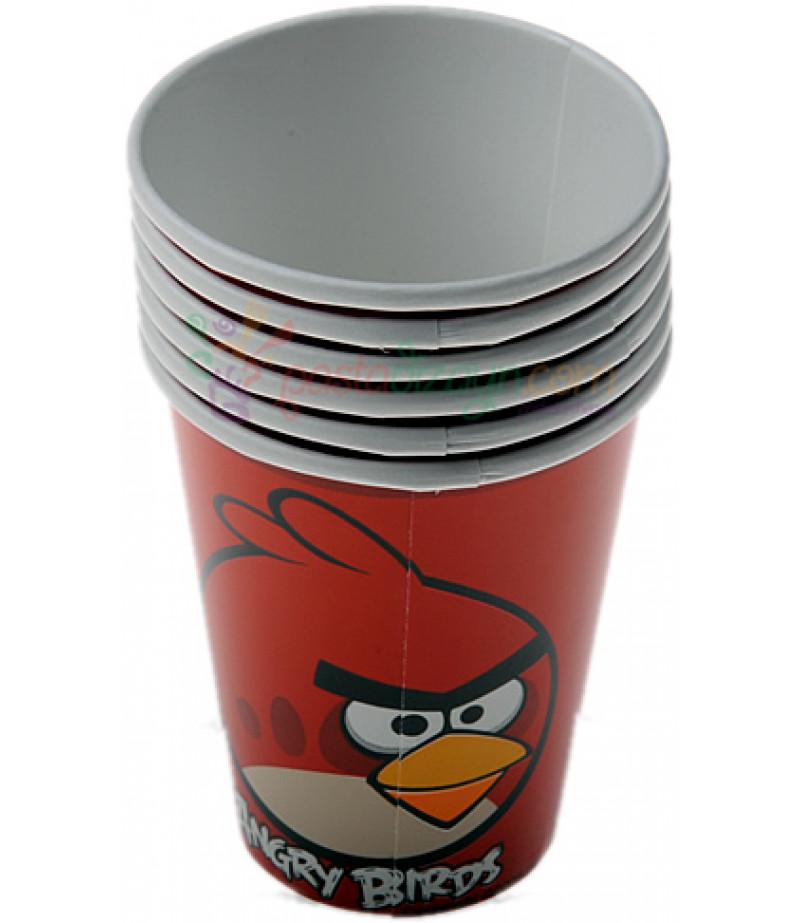 Angry Birds Temalı Bardaklar,8 adet