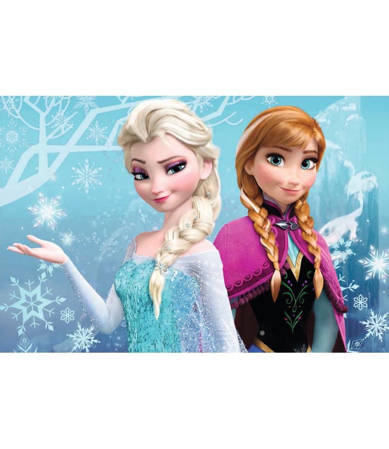 Anna,Elsa Gofret Kağıdı İle Baskı