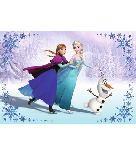 Anna,Olaf,Elsa Gofret Kağıdı İle Baskı