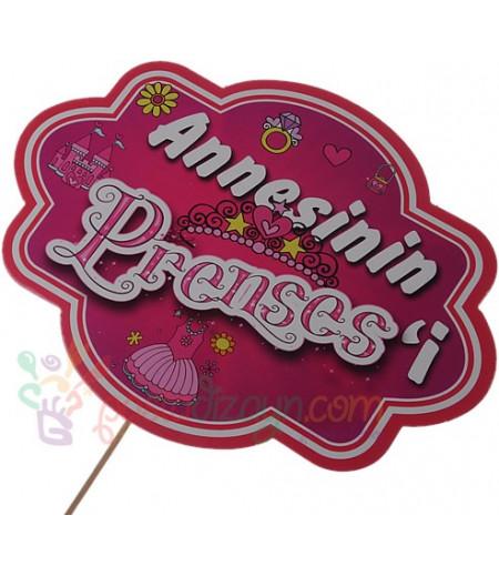 Annesinin Prensesi Yazılı Konuşma Balonu