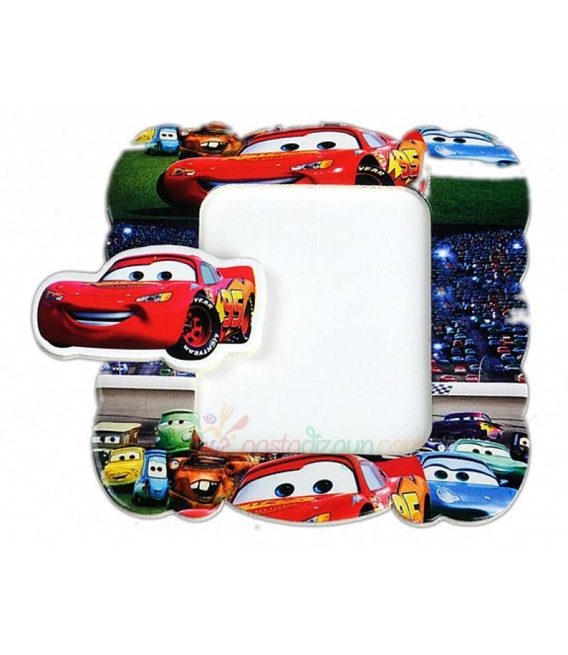 Arabalar Temalı Magnetli Fotoğraf Çerçevesi,Adet