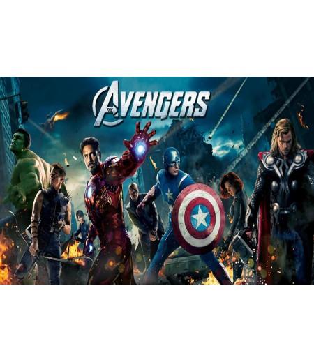 Avengers Şeker Hamur Kağıdı ile Baskı