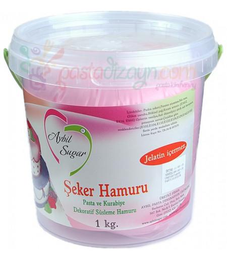 Aybil Açık Pembe Renk Şeker Hamuru,1kg