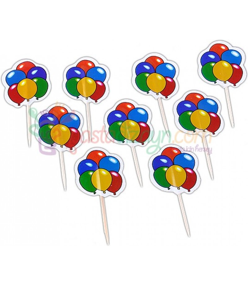 Balon Figürlü Kürdanlar,10 Adet