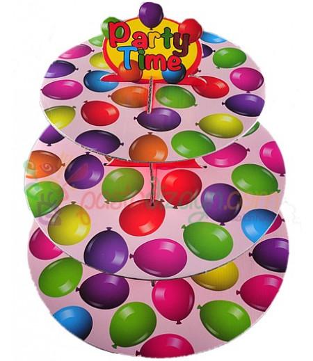 Balonlar Temalı Kek Standı