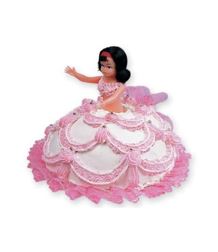 Barbie Pasta Üstü Süslemesi (Barbie Bebeği)