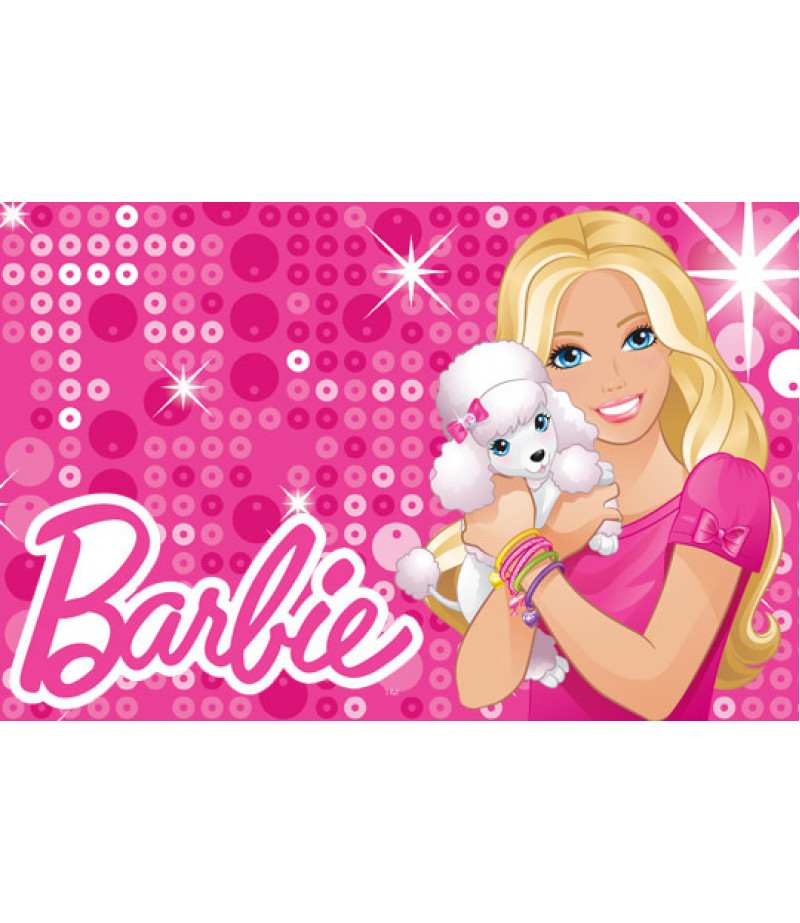 Barbie Şeker Hamuru Kağıdı İle Baskı