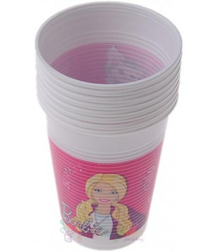 Barbie Görselli Plastik Bardaklar,8 Adet