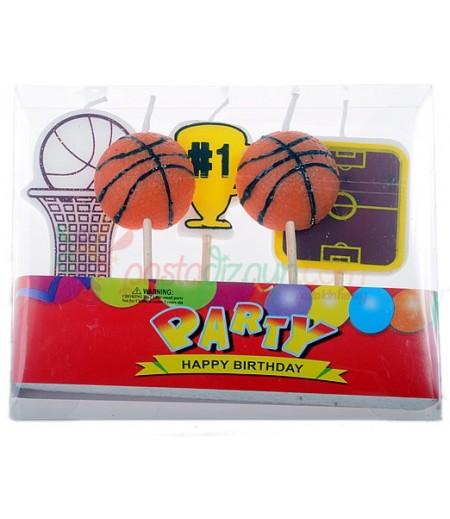 Basketbol Temalı Doğum Günü Mumları