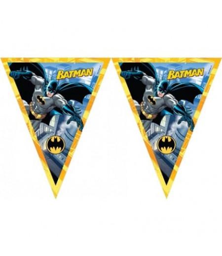 Batman Görselli Kağıt Flama