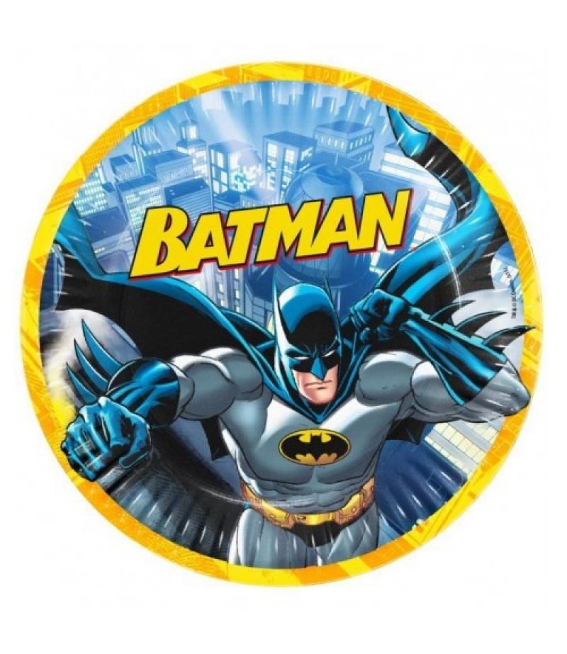 Batman Görselli Kağıt Tabaklar,8 Adet
