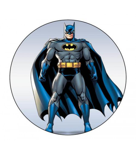 Batman Yuvarlak Gofret Kağıdı İle Baskı