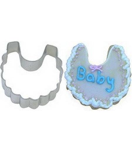Bebek Önlüğü Şekilli Kurabiye Kalıbı,9x4cm
