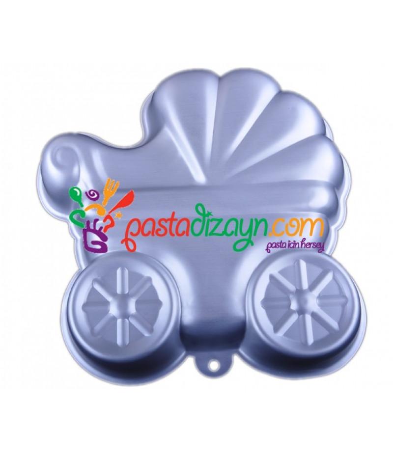 Bebek Arabasi Şekilli Pasta Kalıbı,25 cm