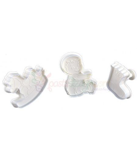 Bebek,At,Çorap Basmalı Kopat Set, 3'lü
