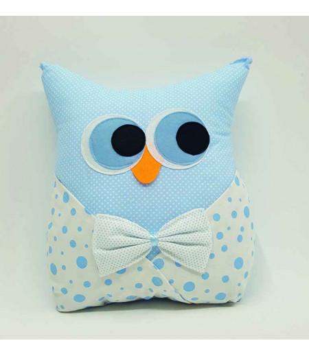 Bebek Takı Yastığı -  Baykuş Mavi