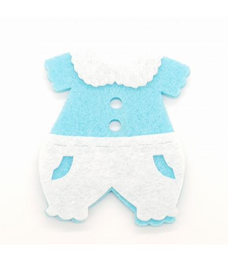 Bebek Tulum Dekor Keçe Süsleme Mavi